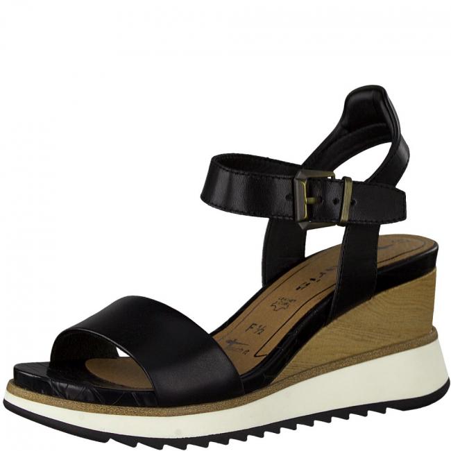 Sandalen mit Keilabsatz  Schwarz | 37