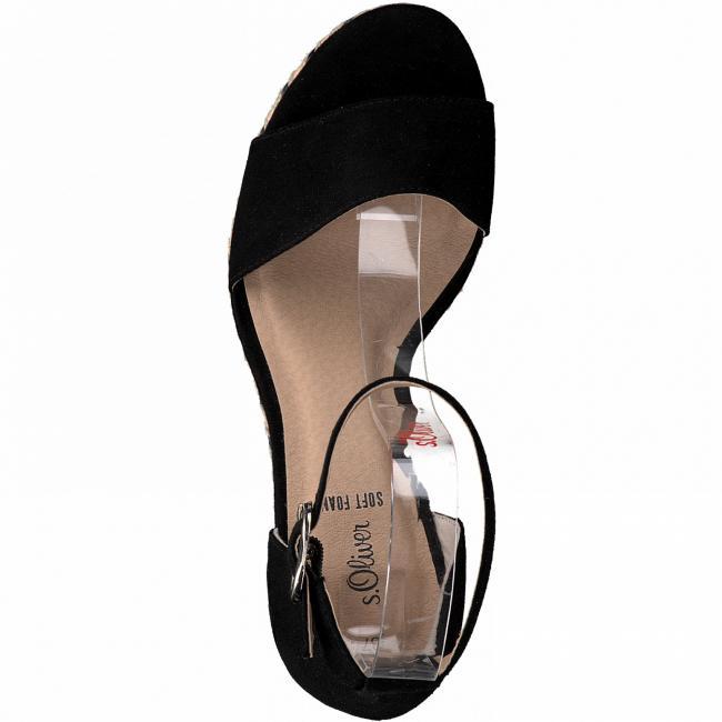 Sandalette mit Keilabsatz  Schwarz | 36